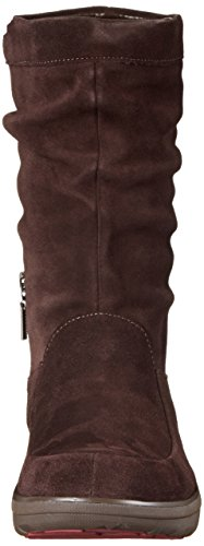 FitFlop Loaff Slouchy Knee, Bottes Doublées Femme Marron (Dark Brown)