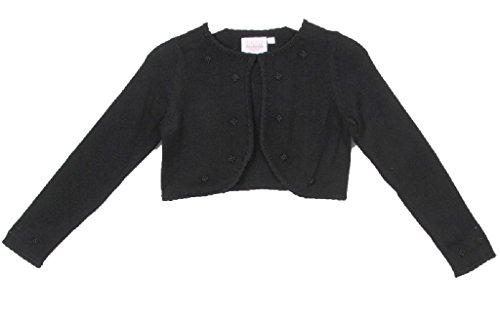 Style Knit Cotton Bolero Pearl Jacket Black Size L (8-10) ()