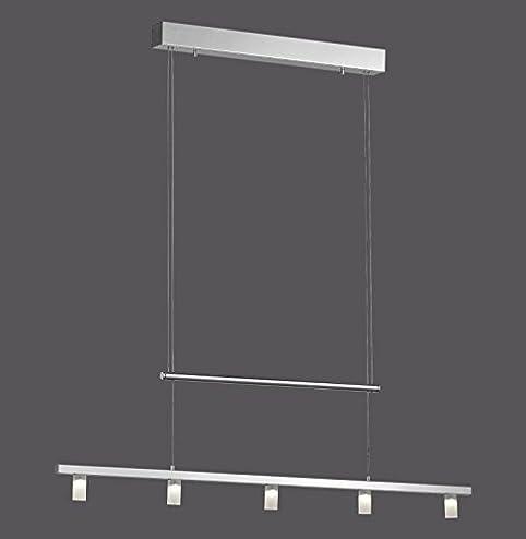 LED Hängeleuchte 5 Flammig Esszimmer Lampe Hängelampe Pendelleuchte Dimmbar  Glas (Pendellampe, Deckenlampe, Wohnzimmer