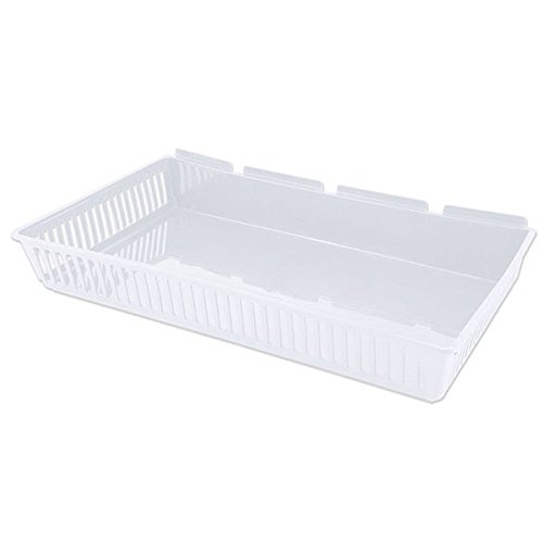 Case of 10 Retail White finish Jumbo Cratebox 13.54Dx 22.04Wx 3.86H by Cratebox