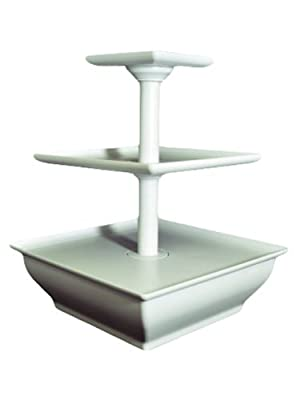 EdgeVantage White Three Tier Server Station - Cupcake Stand