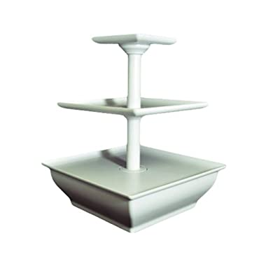 EdgeVantage White Three Tier Server Station - Dessert Tray - Cupcake Stand - Food Display