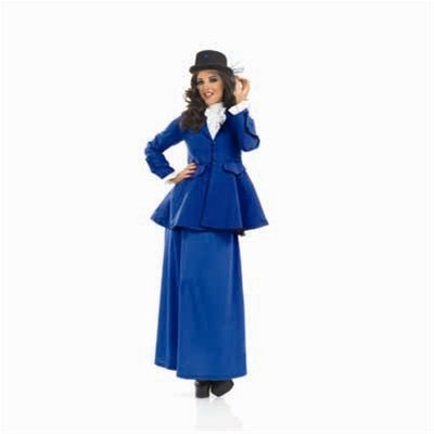 Medium Blue Victorian Lady Mary Poppins (Mary Poppins Costume Uk)
