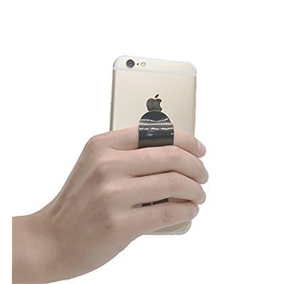 FOURPLUSONE Cell Phone Grip, Universal Handheld Finger Strap Loop Holder for iPhone Samsung Smartphone Kindle Tablet Car Vent Holder: Electronics