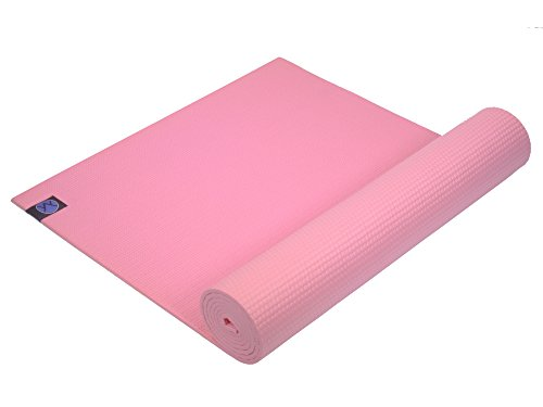 Youphoria Yoga 1/4-Inch Thick High Density Memory Foam Mat with Carry Strap, Pink