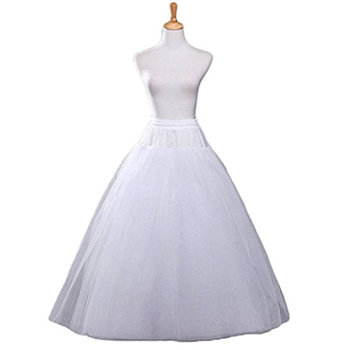 A-Line Hoopless Petticoat Crinoline Underskirt Slip for A-Line Ball Gown Wedding Dress(4 Layers)
