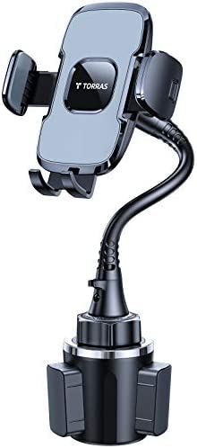 [13 in GOOSENECK] TORRAS Car Phone Holder Upgraded Cup Holder Phone Mount [Big Phone & Thick Case Friendly] Universal Cup Phone Holder for Car Fit with iPhone 12 pro max 11 Samsung Galaxy S21 S20 LG