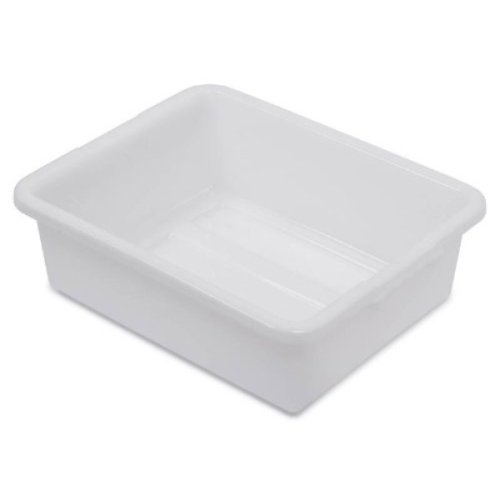 Royal Industries Bus Box, Plastic, 21.25'' x 17.25'' x 7'' Deep, White, Commercial Grade - NSF Certified