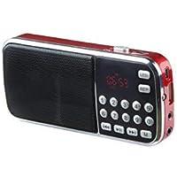 Mini Portable Am/Fm Mp3 Radio Player (Red)