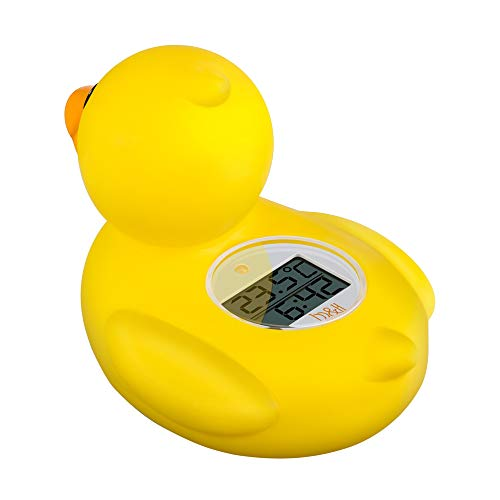 b&h Baby Thermometer, The Infant Baby Bath Floating Toy Safety Temperature Thermometer (Lady Duck)
