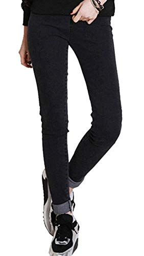 Fashion Con Gran Mujeres Paño Pantalones Elástica Negro Élastique Otoño Azul Lápiz Caliente Las Invierno Grueso Suave Schwarz Vaqueros De Mezclilla Cintura Y Tamaño Estiramiento El Pitillo qtr11zInw