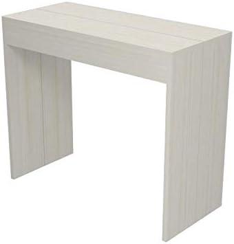 Bianco larice allungabile da 40 a 120 cm Tavolo Consolle Economica tavolo 4 persone arredo cucina casa in diversi colori Ve.Ca