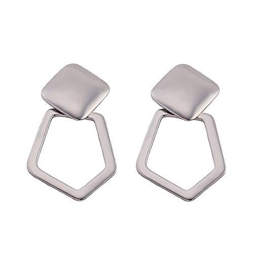 Earrings for Women   Gold Silver Zinc Alloy Metal Irregular Earrings   Fashion Jewelry (4)
