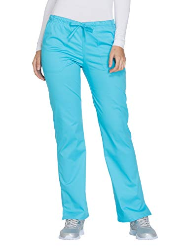 - Cherokee Workwear Core Stretch WW130 Mid Rise Drawstring Pant Turquoise M