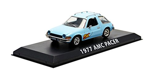 1977 AMC Pacer Light Blue with Flames Greenlight Exclusive 1/43 by Greenlight - Toy Flame Blue