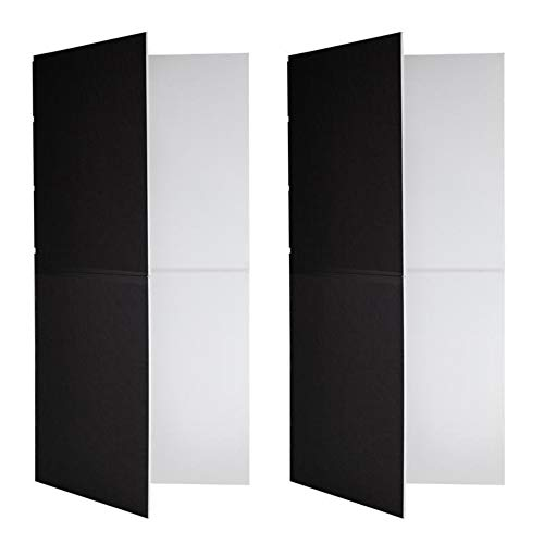 V-FLAT WORLD Foldable V-Flat, Set of 2, Black/White