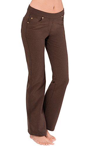 PajamaJeans Women's Bootcut Stretch Knit Denim Jeans, Mahogany, XX-Small / 00 ()