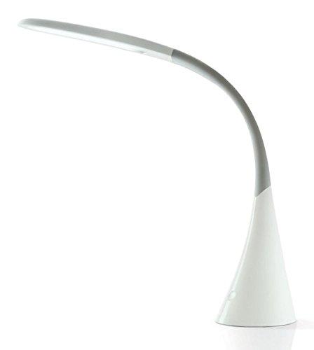 Design LED Tischleuchte, Leseleuchte, dimmbar, 8 W, Swan II Weiß, 10284