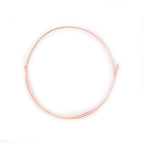 20 Gauge, 99.9% Pure Copper Wire, Half Round, Dead Soft, CDA #110-25FT from Craft Wire