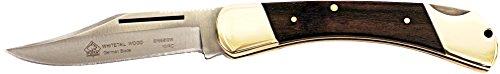 Puma SGB Whitetail Jacaranda Wood Lockback Folding Pocket Knife (Best Folding Hunting Knife Reviews)