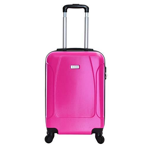 Slimbridge Hard Cabin Hand Luggage Carry-on Suitcase Bag 55 cm 2.5 kg 35 litres 4 Wheels Number Lock, Alameda (Bubble…