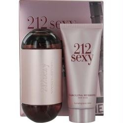 212 Sexy Carolina Herrera 2 Pc Gift Set For Women Soft Fruity Blend Citrus Gardenia Musk