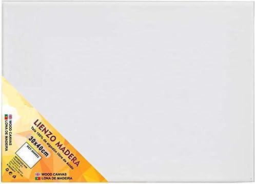 Pack de 6 lienzos 30 x 40cm de 100/% algod/ón apto para /óleo acr/ílico y mixto Libre de /ácido. pre-estirado color BLANCO