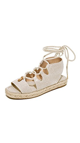 Michael Kors Womens McKenna Canvas Open Toe Casual Gladiator, Natural, Size 9.5
