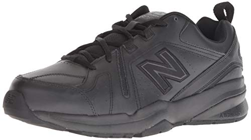 New Balance Men's 608v5 Casual Comfort Cross Trainer Shoe, Black, 12 XW US