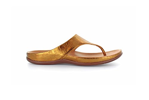 Peep femme Bronze Metallic Maui Toe Strive S7p5qS