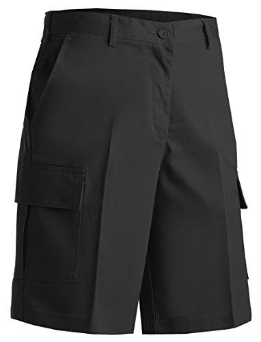 (Averill's Sharper Uniforms Women's Ladies Flat Front Cargo Shorts 16 Black)