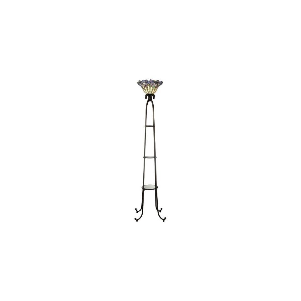 Dale Tiffany Torchiere Shelf Floor Lamp