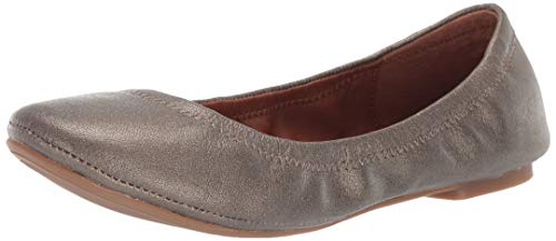 Lucky Brand Women's Lucky Emmie Ballet Flat, Black/Leather, 8 M US ()