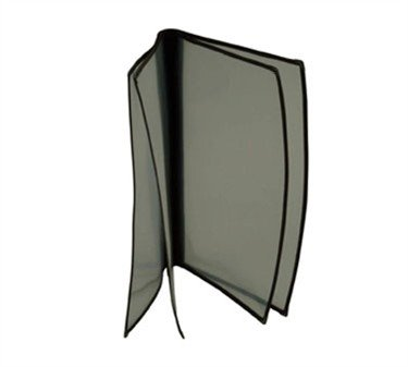 Menu Cover, 8-1/2'' X 14'', Booklet, Quad Pocket, 8-View, Plastic Laminate Folder, Black Trimming (5 Pieces/Unit) Booklet Menu Cover