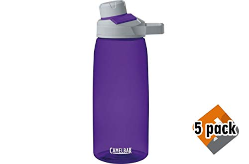 CamelBak Chute Mag Water Bottle, 32oz, Iris (5 Pack) ()