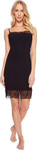 commando Women's Classic Slip Chemise With Lace SL148 Black Small Classic Lace Chemise
