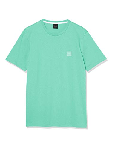 BOSS Mens Tales Cotton T-Shirt with Logo Patch