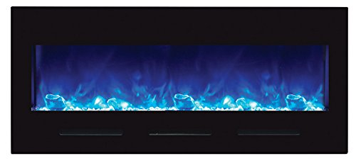 Cheap Amantii 50″ Electric Fireplace with Black Glass Surround – No Mood light