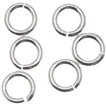4mm Open Jump Rings .925 Sterling Silver 22 gauge Pack of 100 Jewelry Findings
