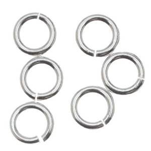 4mm Open Jump Rings .925 Sterling Silver 22 gauge Pack of 100 Jewelry Findings