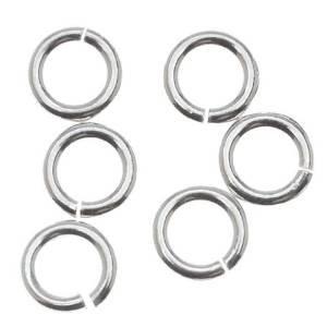 - 4mm Open Jump Rings .925 Sterling Silver 22 gauge Pack of 100 Jewelry Findings
