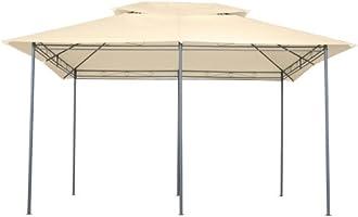 MIADOMODO - Carpa pabellón de jardín 4 x 3 m Beis: Amazon.es: Hogar