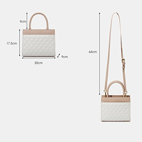 A Diagonal Color Ms Bag Shoulder Casual Quilted B Fashion Cowhide Lattice Shoulder JIUTE Female Bag Messenger wZnFqwxaI