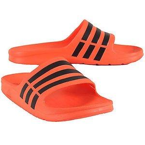 new arrival 4f9b3 0fa09 adidas Duramo Slide Orange Mens PoolShower Sandals, Size 8