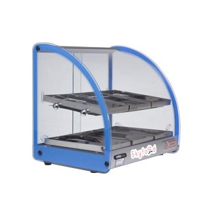 SKYFOOD FWD2-18B 18'' FOOD WARMER DISPLAY CASE - DOUBLE SHELF - BLUE by SKYFOOD