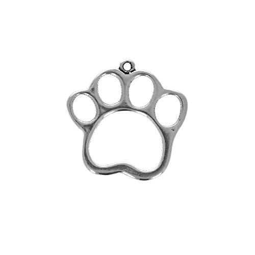 Sterling Silver Dog Paw Print Charm Item ()