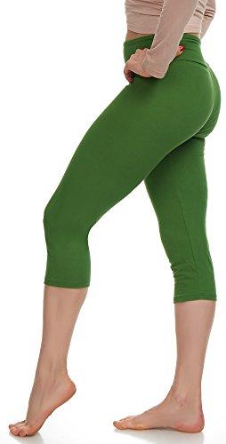 LMB Lush Moda Extra Soft Capri Leggings - Variety of Colors - Yoga Waist - - Footless Tights Capri
