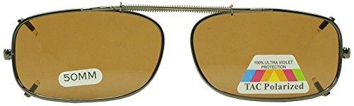 50mm Easyclip Spring Metal Clip On Polarized Sunglasses for Reading Eyeglasses (Gun Metal | Brown Lens, - Sunglasses Spring