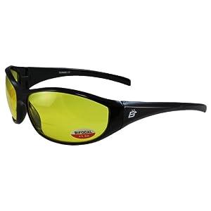 Birdz Eyewear Sparrow Riding Sunglasses (Black Frame/Yellow Lens)