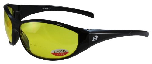 Birdz Eyewear Sparrow Riding Sunglasses (Black Frame/Yellow - Com Sunglasses Overstock